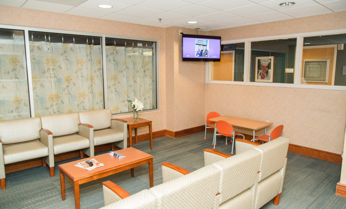 Visitor lounge at maternity center
